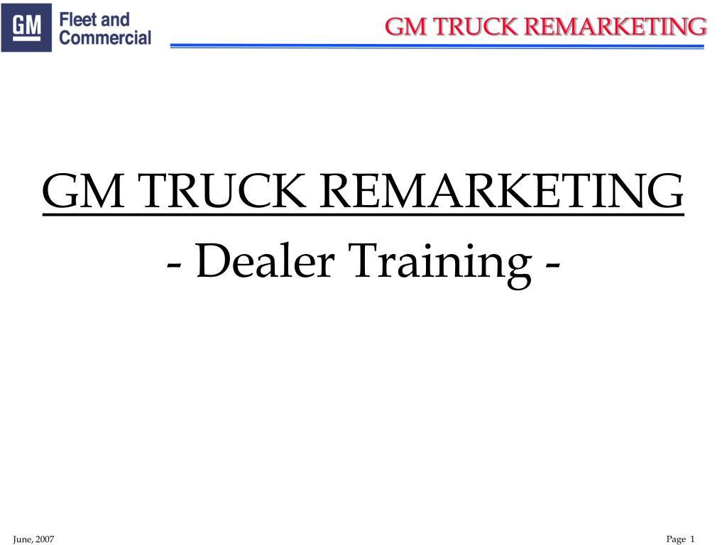 gm truck remarketing l.