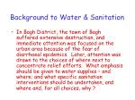 background to water sanitation