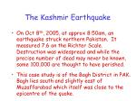 the kashmir earthquake