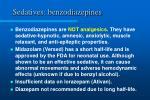 sedatives benzodiazepines