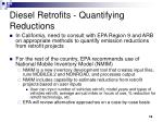 diesel retrofits quantifying reductions