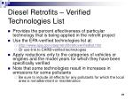 diesel retrofits verified technologies list
