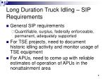 long duration truck idling sip requirements