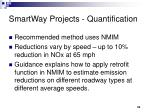 smartway projects quantification