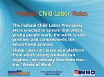 federal child labor rules