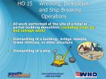 ho 15 wrecking demolition and ship breaking operations