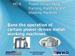 ho 8 power driven metal forming punching and shearing machines