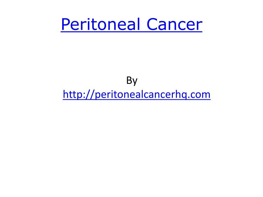 peritoneal cancer l.