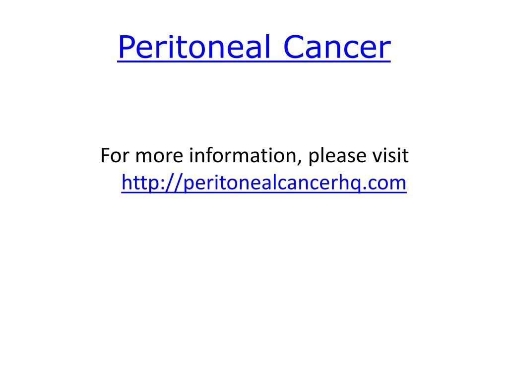 Peritoneal Cancer