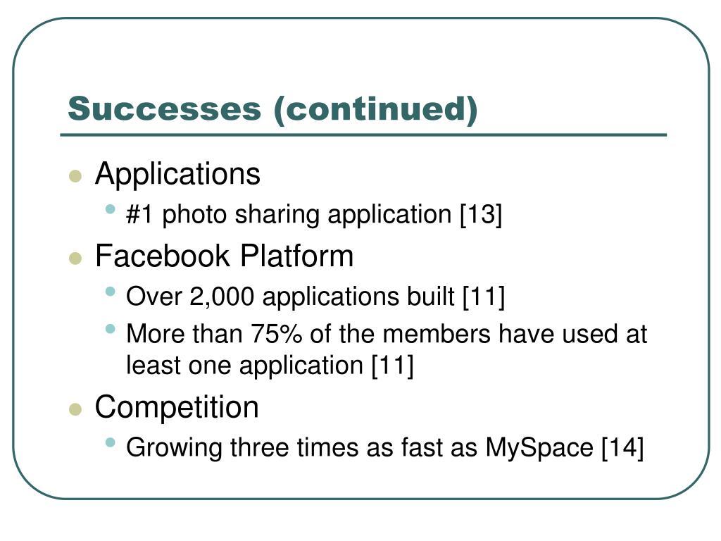 Successes (continued)