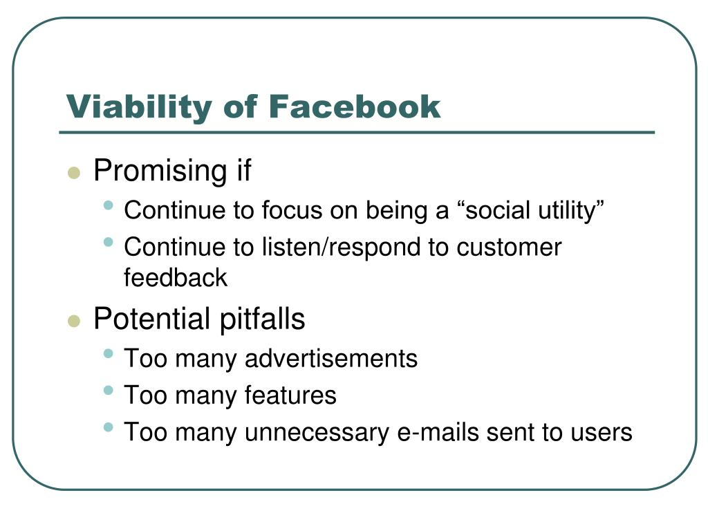 Viability of Facebook