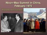 nixon mao summit in china february 1972