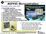 msp430 microcontrollers