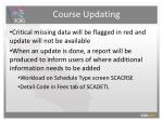 course updating