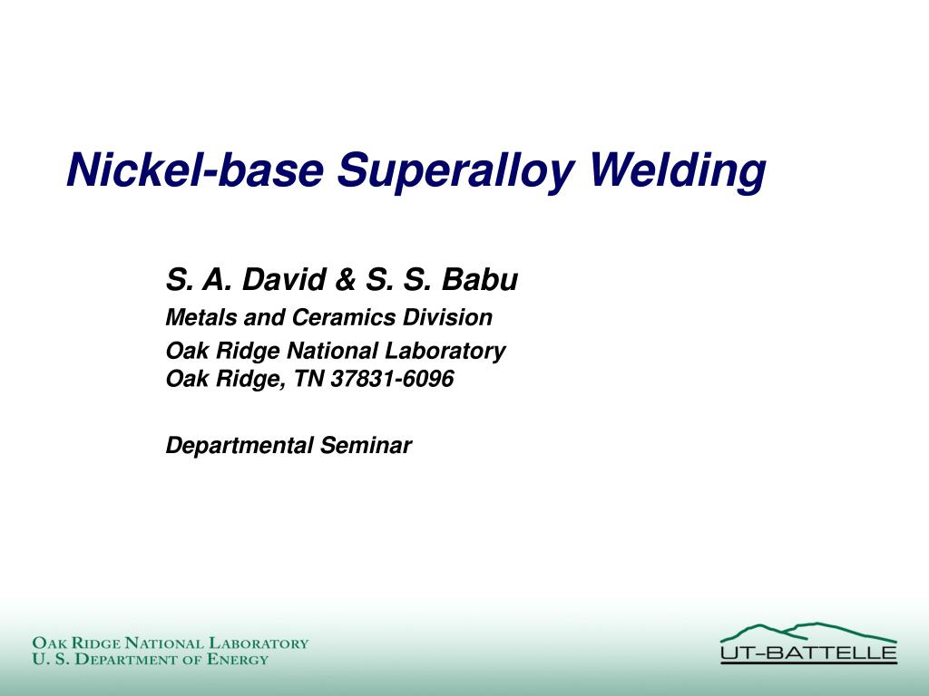 nickel base superalloy welding l.