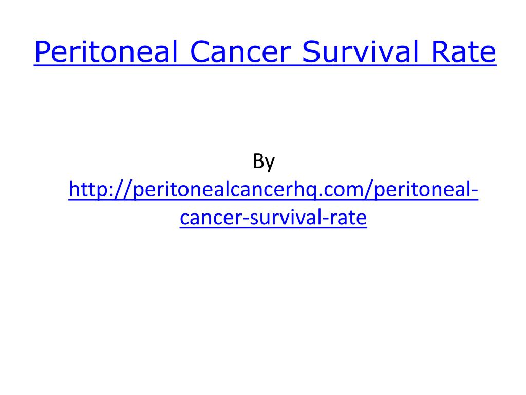 peritoneal cancer survival rate l.