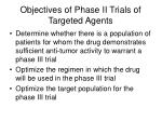 objectives of phase ii trials of targeted agents
