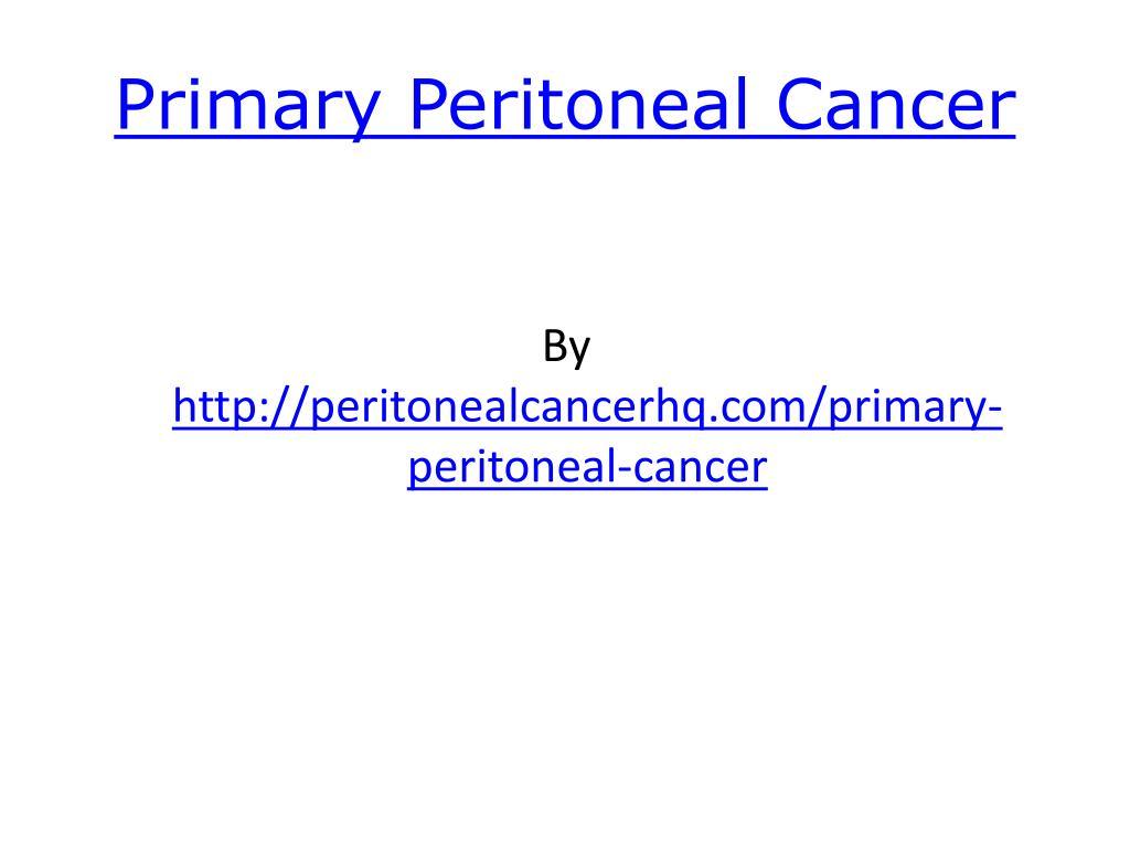 primary peritoneal cancer l.