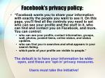facebook s privacy policy