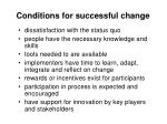 conditions for successful change