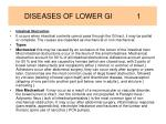 diseases of lower gi 1