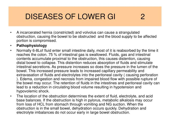 Diseases of lower gi 2