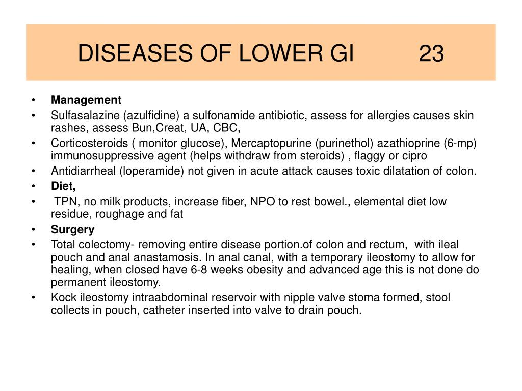DISEASES OF LOWER GI          23