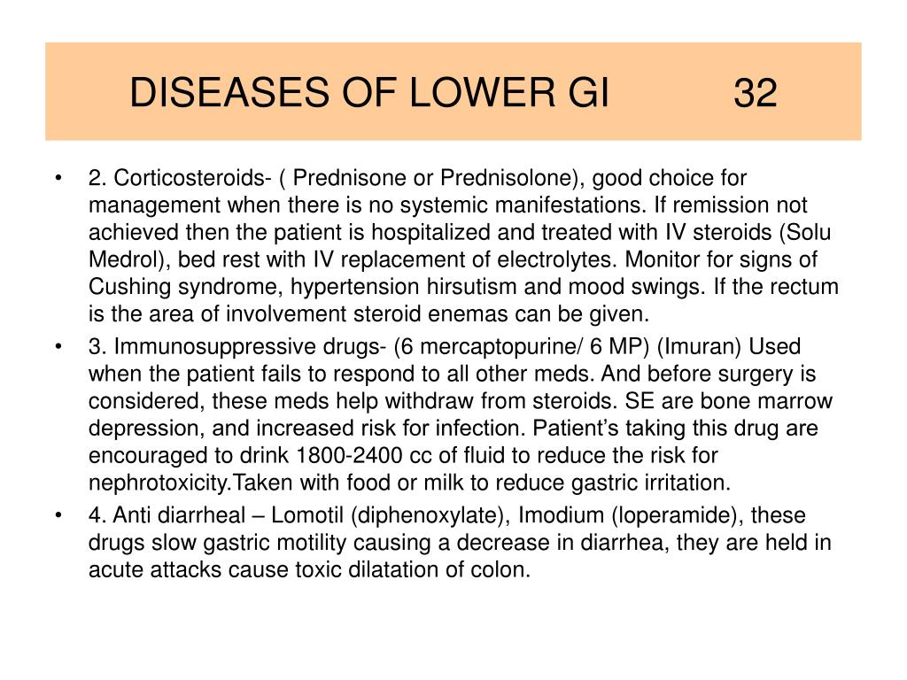 DISEASES OF LOWER GI           32