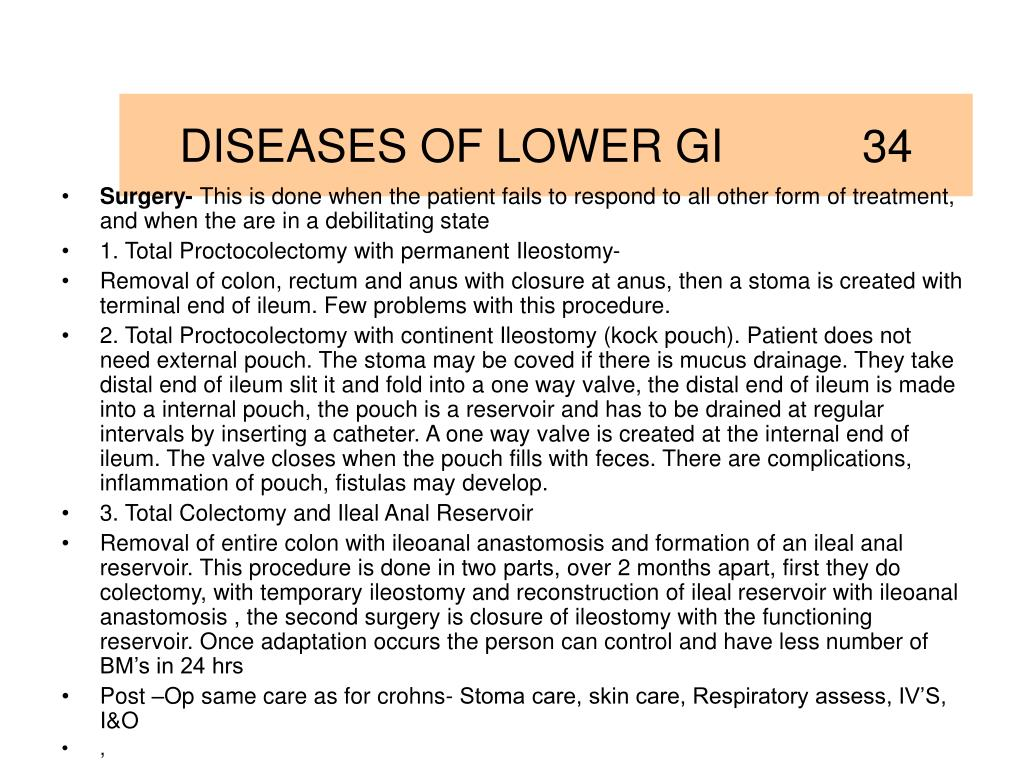 DISEASES OF LOWER GI           34