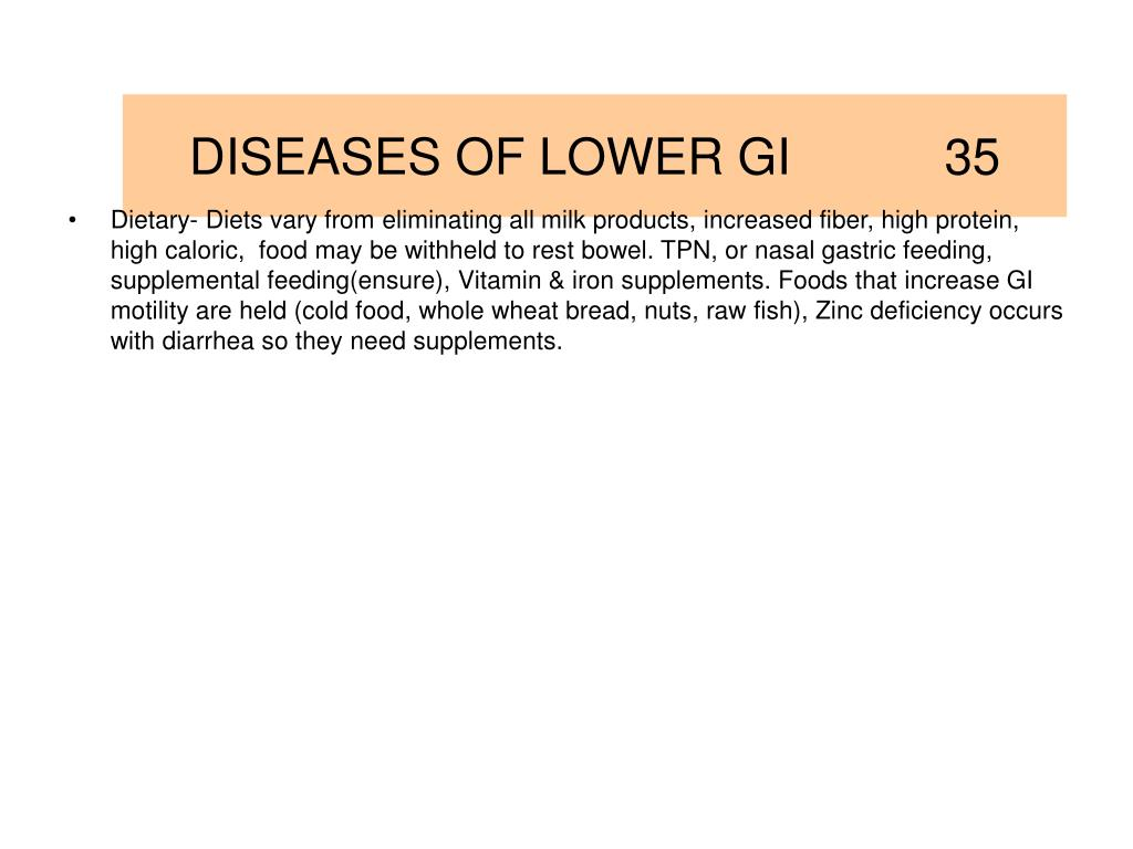 DISEASES OF LOWER GI           35