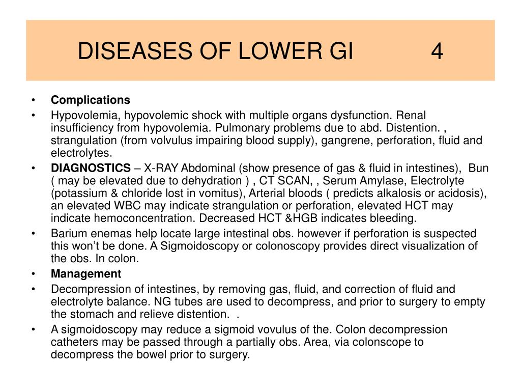 DISEASES OF LOWER GI            4