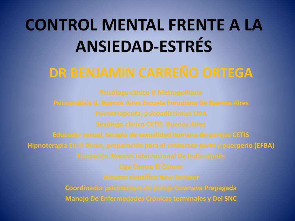 control mental frente a la ansiedad estr s l.