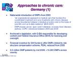 approaches to chronic care germany 1