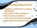decoding medical terms