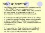 scale up strategy