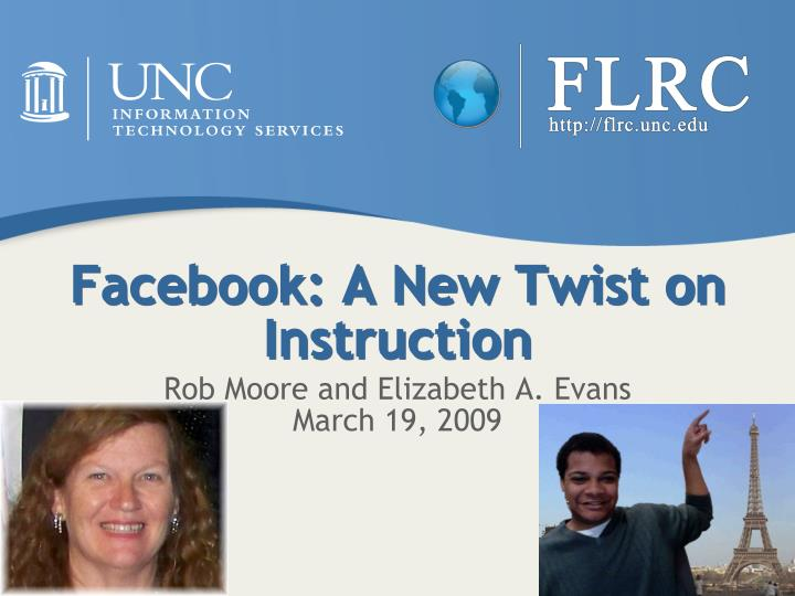 Facebook a new twist on instruction