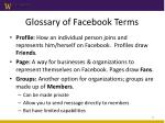 glossary of facebook terms