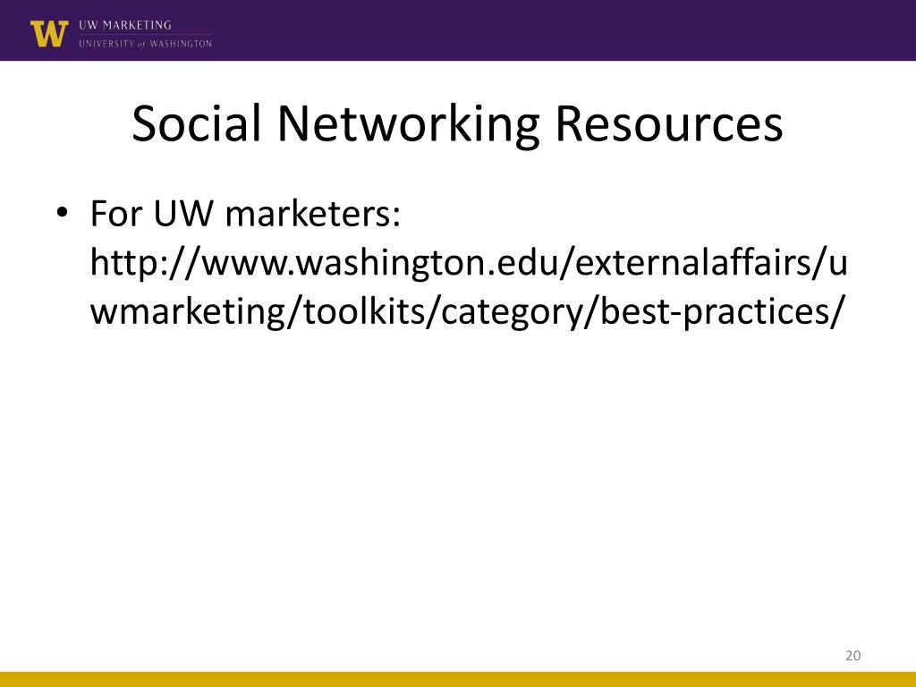 Social Networking Resources