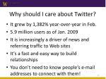 why should i care about twitter