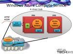 windows azure compute service a closer look