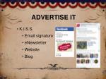 advertise it