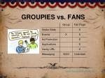 groupies vs fans
