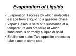 evaporation of liquids