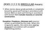 r301 2 2 2 5 irregular means26