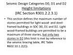 seismic design categories d0 d1 and d2 height limitations irc section r301 2 2 3 1