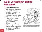 cbe competency based education