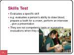 skills test
