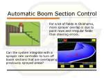 automatic boom section control