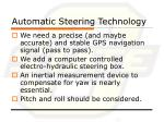 automatic steering technology