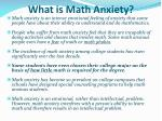 what is math anxiety
